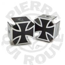 Bouchon de Valve Iron Cross Black