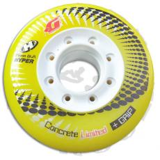 1 roue concrete yellow 76mm/84A